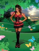 Dreamgirl Lingerie Lovely Ladybug Ruffled Corset Costume Set + Wings & H... - $39.99