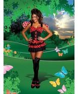 Dreamgirl Lingerie Lovely Ladybug Ruffled Corse... - $39.99