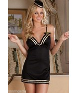 Dreamgirl Lingerie Sexy Mile High Club Flight Attendant Chemise, Thong &... - $34.99
