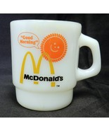 Vintage Anchor Hocking Fire King McDonalds Good Morning Sunshine Mug Mil... - $39.17