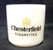 Vintage Federal Heat Proof Chesterfield Cigarettes Milk White Glass Cup Mug USA - $48.97