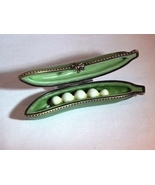"Limoges ""Peas In A Pod"" Ceramic Trinket Box with Decorative Clasp - Grea... - $50.00"