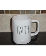 Rae Dunn FAITH Rustic Mug, Ivory with Black Letters, New! - $12.00