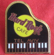 Tel Aviv Closed Hard Rock Cafe Fender Piano Pin Rare Black Keys  - $19.99