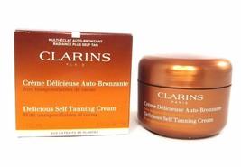 Clarins DELICIOUS Self Tanning Cream Tint Deep Bronzer 4.5oz 125ml NeW i... - $38.50