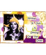 ACEO ATC Art Collage Print Women Normal Just Setting On Dryer Humor Sarcasm - $2.75