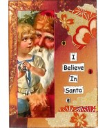 ACEO ATC Art Collage Print I Believe In Santa Claus Christmas Holiday  - $2.75