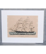 Currier &  Ives Hand Colored Lithograph Homeward Bound Clipper Ship Smal... - $650.00