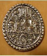 PEWTER JERUSALEM EMBOSSMENT MAGNET WITH THE MENORAH - $2.99