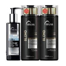 Truss Hair Protector - Lightweight Gel/Cream Leave-in Bundle with Blond ... - $113.05