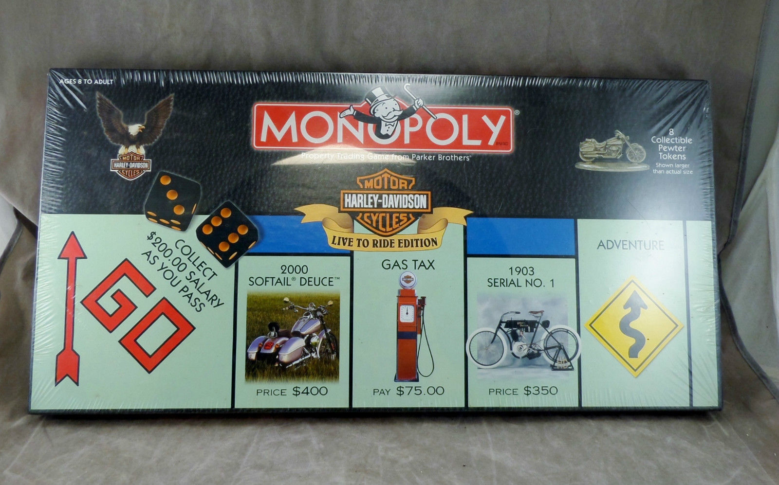 "Primary image for MONOPOLY Board Game HARLEY DAVIDSON ""LIVE TO RIDE"" EDITION Parker Brothers - new"