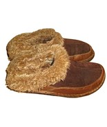 BOC BY BORN BROWN LEATHER & SUEDE CLOGS SHOES S... - $21.00 - $22.00