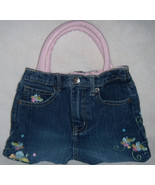 Girls Recycled Embroidered Jeans Purse - $10.00