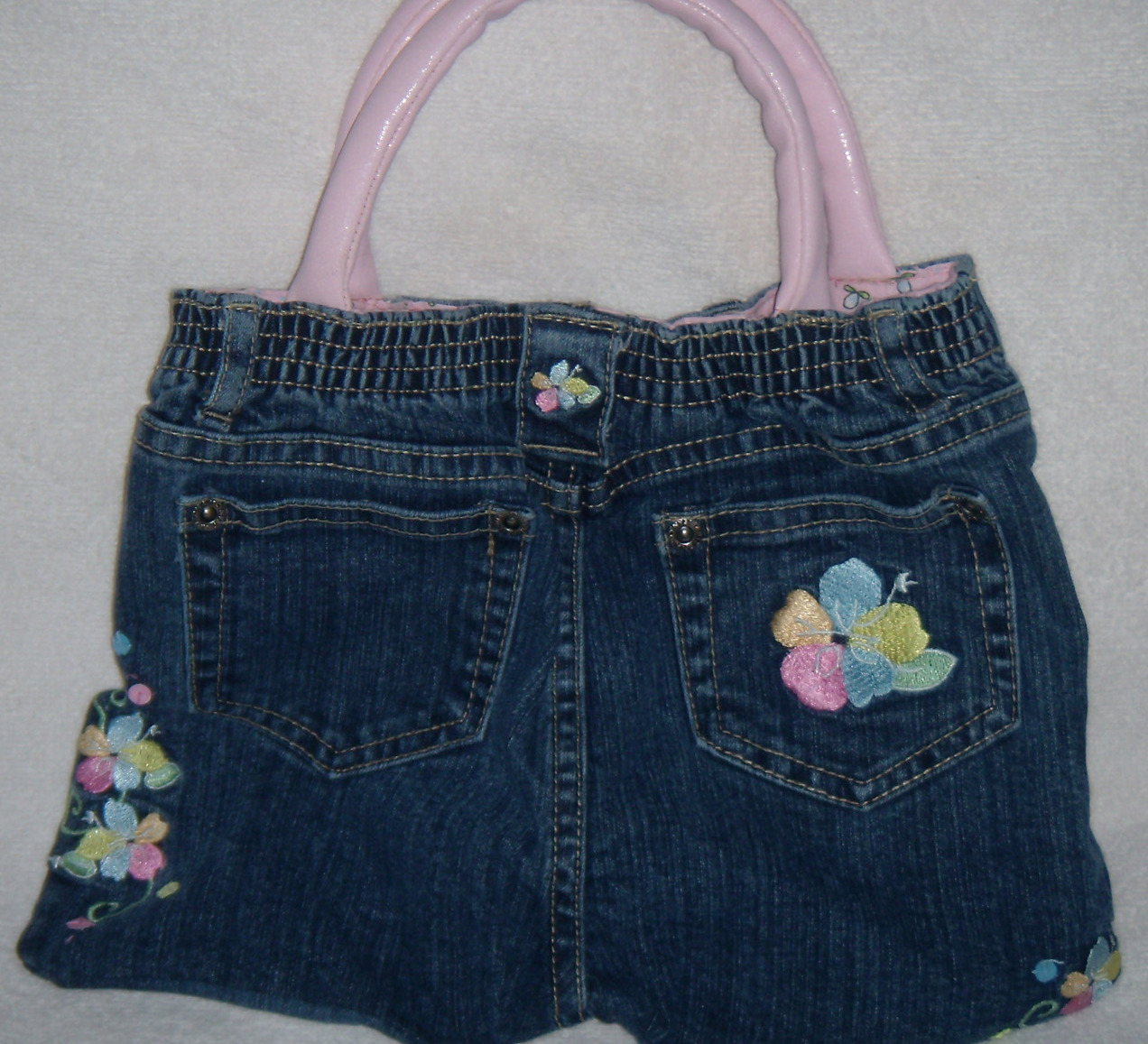 Girls Recycled Embroidered Jeans Purse
