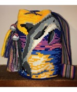 Authentic 100% Wayuu Mochila Colombian Bag Large Size Exclusive Dolphin ... - £114.71 GBP