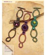 W105 Bead PATTERN ONLY Beaded Gypsy Gem Bracelet Pattern - $7.50