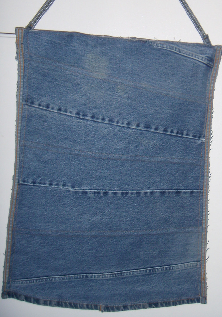 Recycled Jeans Organizer/Wallhanger