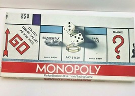 Monopoly Board Game 1973 Parker Brothers Real Estate Trading Complete Set - $19.80