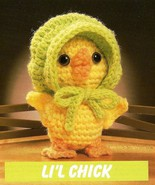 W101 Crochet PATTERN ONLY Li'l Chick Tiny Little Baby Chicken with Bonne... - $7.50
