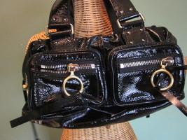 AUTHENTIC CHLOE BLACK PATENT LEATHER HANDBAG - $350.00