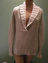 Ladies Size Small (S) Wool Blend Long Sleeve Sweater in Tan - $25.00