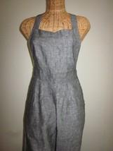 Ladies Size Medium Overall Pants in Gray/Black/White - $30.00