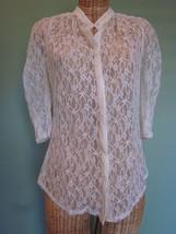 Mcginn Size 2 Lace Ivory Blouse - $23.00