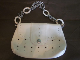 Marc Jacobs White Leather Handbag With Chain Strap - $250.00
