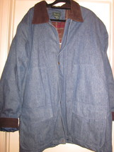 Men's 3XL TL Scandia Woods denim and flannel Jacket - $35.00