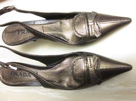 PRADA Size 36 Bronze Slingback Shoe - $150.00