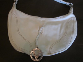 Valentino Garavani White Leather Hobo Handbag - $400.00