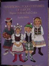 TRADITIONAL FOLK COSTUMES OF EUROPE PAPER DOLLS NEW UNCUT  - $16.25