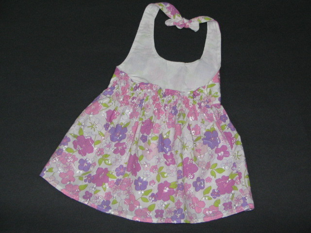 NEW NWT 2 Pc PINK FLORAL HALTER Dress Outfit Sz 24 M