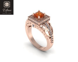 Unique Design Womens Wedding  Anniversary Ring Free Ship In Solid 14k Rose Gold - $829.99