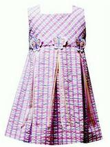 Nwt Rare Editions Pink Blue Plaid Butterfly Dress 4 4T - $13.99