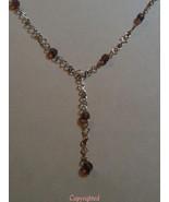 Natural Amethyst Lariat Necklace Unique Design ... - $36.00