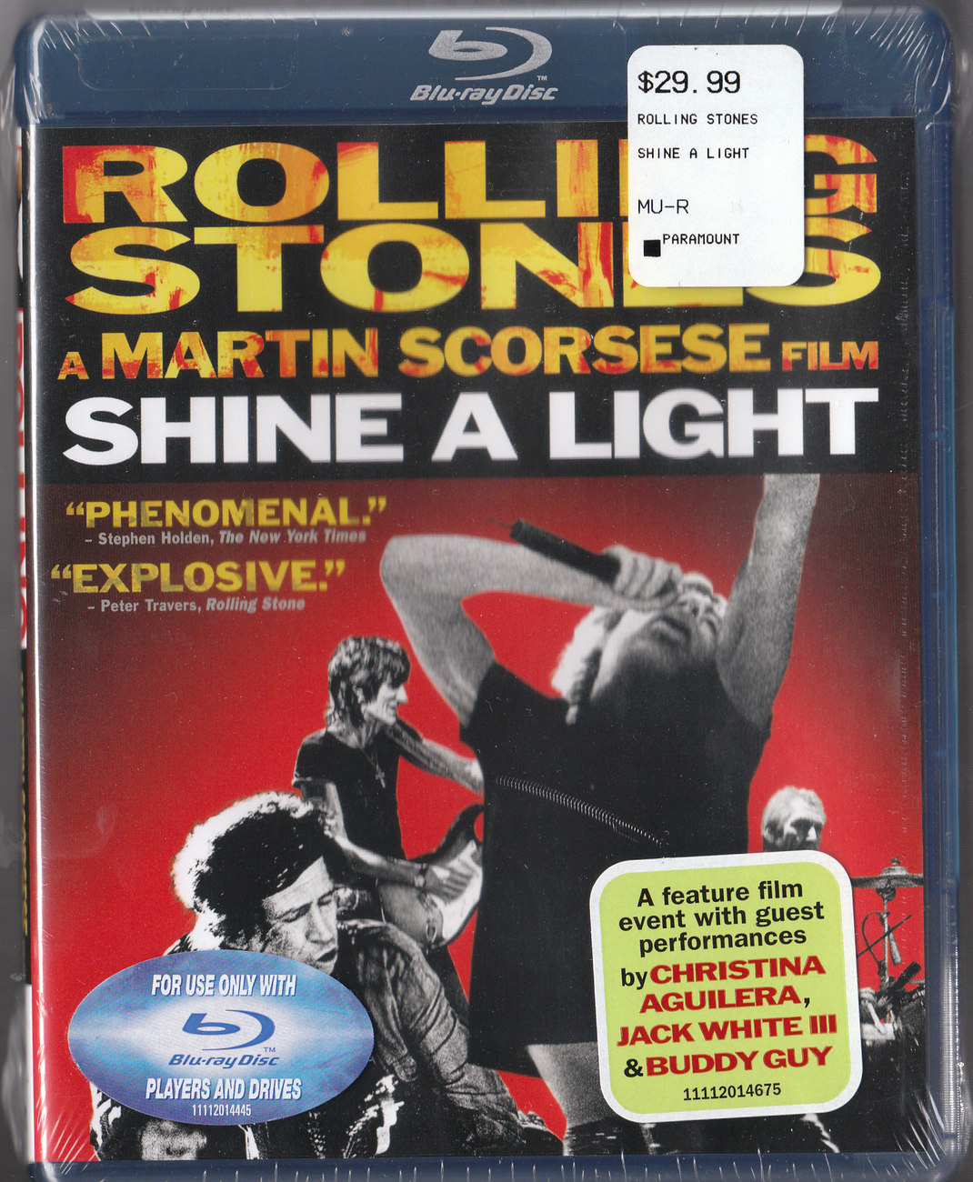 Rolling Stones-SHINE A LIGHT sealed BLU Ray Disc