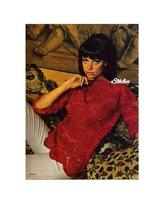 Mid-Hip Tunic Blouse Swirl Motif & Scalloped Edges Crochet pattern (PDF 5135) - $3.75