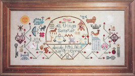 All Things Sampler cross stitch chart The Workbasket - $10.35