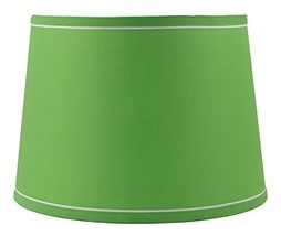 Urbanest French Drum with White Trim 10x12x8.5 Lampshade, Bright Green - $39.59