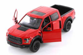 SEALED MotorMax 1:27 2017 Ford F-150 Raptor Truck (Red) PRIORITY SHIP - $17.49