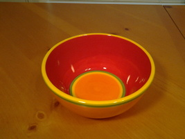 "Dansk Caribe, Aruba Orange (1) Cereal / Soup Bowl 6"" Diam, 2.75 "" Tall, VG - $6.50"