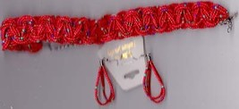 Icay Imports Red Seedbead necklace and earring Set - $17.50