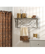 BATH ENSEMBLE leopard print shower curtain, han... - $24.79