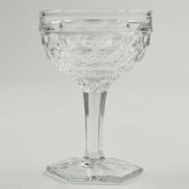 Fostoria Glass American Clear Tall Sherbet Champagne Hexagon Base 2056 Cube - $8.99