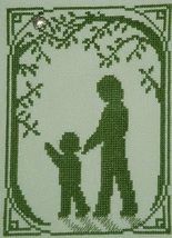Walk With Mom with charm cross stitch chart Handblessings - $5.00