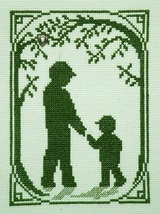 Walk With Dad with charm cross stitch chart Handblessings - $5.00