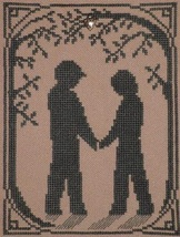 Sweethearts Walk with charm cross stitch chart Handblessings - $5.00