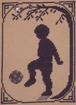 Soccer Player with charm cross stitch chart Handblessings - $5.00