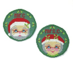 The Santas circle ornaments cross stitch chart Handblessings - $5.00
